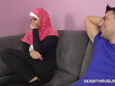 A horny tramp fucks his Muslim sister-in-law