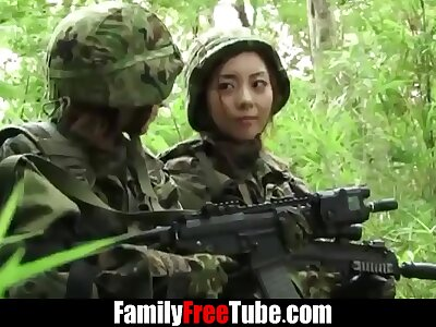 Japanese army girl gets captured - FamilyFreeTube.com