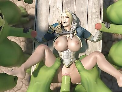 jaina proudmore fucked hard by huge orc dicks