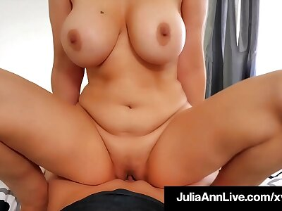 Dominate Cougar Julia Ann Mounts & Blows The brush Conduct oneself Son's Dick!
