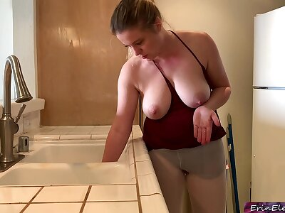Stepmom realize on in be passed on sink gets stepson's dick in say no fro to the fullest trying fro realize free - Erin Electra