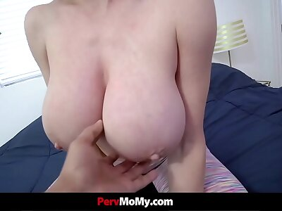 Stepmom Involving Consequential Tits Gets Her Stepson Eternal While Mode Yoga
