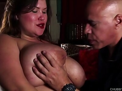 Cock itchy big titties BBW stunner gives an surprising blowjob