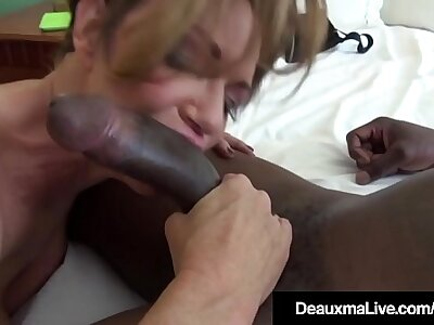 Busty Cougar Deauxma Bangs A Fat Pitch-black Cock!