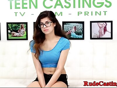 Pygmy spex teen caper and fucked at casting