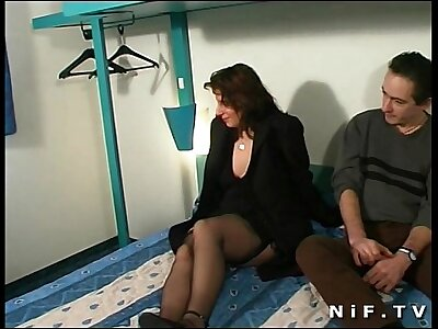 Chubby french slattern anal fucked